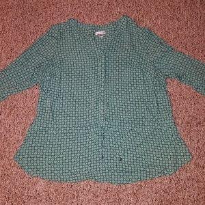 3/4 sleeve pattern shirt
